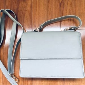 Deux Lux Leather Box Satchel in Gray